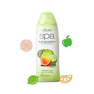 Sữa tắm tẩy tế bào chết Natures Organic hương chanh cam dưỡng trắng SPA Fruit 400ml thumbnail