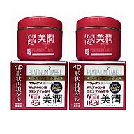 Bộ 2 kem hỗ trợ trị nhăn và hỗ trợ trị xạm da PLATINUM LABEL Nhật bản ( 175g) HỘP ĐỎ thumbnail