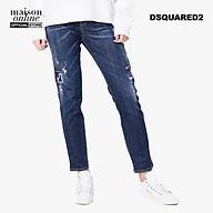 DSQUARED2 - Quần Jeans nữ lưng cao ống suông Cool Girl S75LA0992-470 thumbnail