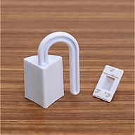 Combo 2 bộ kẹp bản lề cửa khi mở, chống kẹt tay em bé (màu trắng) thumbnail