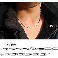 Dây chuyền nam inox thời trang hỏa tiển trơn 2mm thép không gỉ BC02 thumbnail