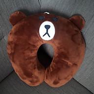 Gối cổ chữ u văn phòng hình gấu nâu thumbnail