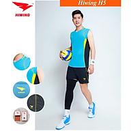 Bộ quần áo bóng chuyền cao cấp thương hiệu HIWING H5 xanh da thumbnail