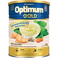 Bột Ăn Dặm Vinamilk Optimum Gold Yến Mạch Cá Hồi Rau Xanh Hộp Thiếc 350gr thumbnail