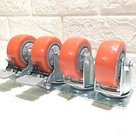 Combo 4 bánh xe đẩy hàng loại cao cấp chịu tải 250 kg, KT 75x32 mm - Di chuyển đa mặt sàn (2 bánh xoay và 2 bánh xoay có hãm) thumbnail