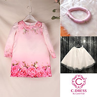 Set Áo dài cho bé, áo cách tân cho bé mặc tết màu hồng xinh xắn thumbnail