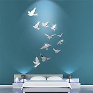 Decal dán tường trang trí 3D sáng tạo cao cấp (M2) 11 chim bồ câu thumbnail