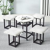Bộ bàn và 4 ghế gấp gọn tiện ích ( Mầu ngẫu nhiên ) - Hàng chính hãng thumbnail