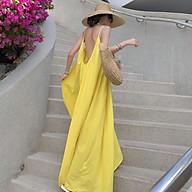 Đầm maxi suông dài hở lưng nhiều màu thumbnail