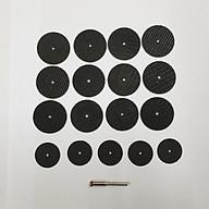 đĩa cắt đá dây gai cắt sắt, cắt nhôm(12 đĩa cắt gai + 5 dia đá cắt + 1 trục) dùng cho máy mài khắc mini thumbnail