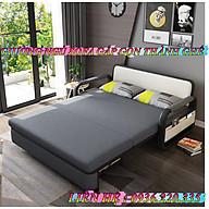 Giường sofa thông minh T359 có ngăn chứa đồ, gấp gọn thành ghế , KT 1m38 1m9 thumbnail