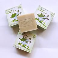 Xà phòng handmade lá Neem - Set 3 soap Adeva Naturals (100 gr 1 bánh) - Xà phòng handmade với thành phần từ thiên nhiên, an toàn dịu nhẹ, cho làn da mềm mại - Không gây khô rít da thumbnail