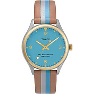 Đồng hồ Nữ Dây Da Timex Waterbury Traditional 34mm Leather Strap Watch - TW2T26500 thumbnail
