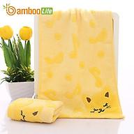 Khăn mặt sợi tre Khăn rửa mặt lau mặt Bamboo Life BBL056 hàng chính hãng thumbnail