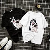 Áo thun Nam Nữ Không cổ HAI CON CHÓ CIMT-0013 mẫu mới cực đẹp, có size bé cho trẻ em áo thun Anime Manga Unisex Nam Nữ, áo phông thiết kế cổ tròn basic cộc tay thoáng mát thumbnail