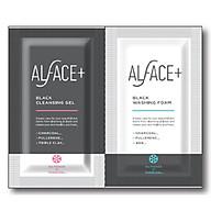 Túi mini kết hợp gel làm sạch và sữa rửa mặt ALFACE Black cleansing gel and Black washing foam thumbnail