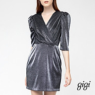 GIGI - Đầm mini cổ V tay lở Wrap Bust G2105202165H-87 thumbnail