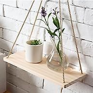 Ke gỗ treo tường dây thừng thiết kế nhỏ gọn phong cách Hàn Quốc- trang trí nhà cửa thumbnail