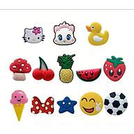 Jibbitz Sticker Icon 3D Gắn Dép Sục (Combo 10 sticker) - Giao Mẫu Ngẫu Nhiên thumbnail