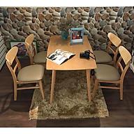 Bộ bàn ăn MG tự nhiên 4 ghế cao cấp thumbnail