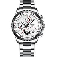 Đồng hồ thời trang công sở nam NIBOSI chính hãng NI2322.01 fullbox, chống nước - Chạy full 6 kim, mặt kính Mineral, dây hợp kim cao cấp không gỉ thumbnail