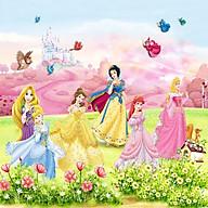 Tranh dán tường 3D hình công chúa trang trí cho bé vải lụa - 100x150cm thumbnail