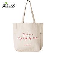 Túi Vải Tote Ginko Unisex Phong Cách Hàn Quốc In Hình YOU RE MY CUP OF TEA K03 thumbnail