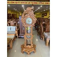 Đồng hồ gỗ gõ đỏ sư tử đại bàng DH033 thumbnail