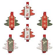 Bộ 6 Kẹp Ảnh Gỗ Trang Trí Giáng Sinh - Hình Cây Thông thumbnail
