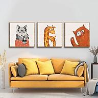 Bộ 3 tranh trang trí ngộ nghĩnh W438 thumbnail