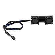 PCIE M.2 SSD 2280 3 Pin Kép Hoạt Động Làm Mát Quạt Tản Nhiệt Tản Nhiệt Vây Nhiệt-Đen thumbnail