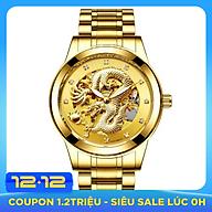 Đồng hồ nam cơ chạm rồng 3D đồng hồ cơ lộ máy thumbnail