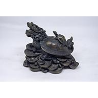 Tượng Long Quy (Rùa đầu rồng) cưỡi tài lộc bằng đá thumbnail