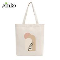 Túi Tote Vải Mộc GINKO Dây Kéo In Hình Minimalism Art M37 thumbnail