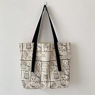 Túi Tote Vải Canvas - Túi Tote Vải Canvas Lớn Họa Tiết Trái Tim Phong Cách Hàn Quốc Cao Cấp thumbnail