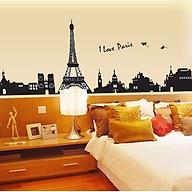 Decal dán tường luvina thành phố paris màu đen ay935 thumbnail
