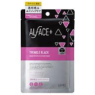 Mặt Nạ Than Tre Siêu Dưỡng Ẩm Nhật Bản Alface Aqua Moisture Sheet Mask Twinkle Black, Dành Cho Da Nhăn, Lão Hóa, Với 17 Loại Axit Amin, Chất Chống lão Hóa, Vitamin C, Mật Ong thumbnail