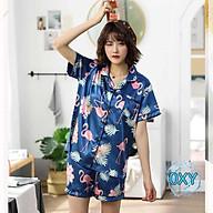 Đồ bộ đùi nữ - đồ ngủ tiểu thư, bộ lụa satin siêu đẹp B65 thumbnail