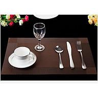 Set 2 Tấm lót bàn ăn nâu - 30x45cm thumbnail