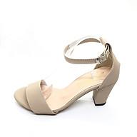 Giày cao gót vuông quai sáp kem 6 phân thumbnail