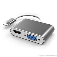 Cáp chuyển đổi USB Type C sang HDMI và VGA (USB C to HDMI , VGA) thumbnail