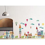 decal dán tường thành phố bóng bay thumbnail