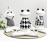 Bộ 3 ếch tập Yoga ngộ nghĩnh - Decor trang trí để bàn thumbnail