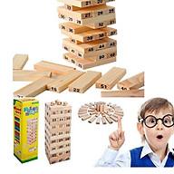 Đồ chơi trẻ em, đồ chơi thông minh, bộ đồ chơi rút gỗ 54 thanh wiss toy gỗ tự nhiên kèm xúc xắc, không độc hại phù hợp với cả trẻ em và người lớn Tặng Kèm Móc Khóa 4Tech. thumbnail