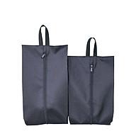 Túi Đựng Giày Dép Vải Dù Cao Cấp Chống Nước Chống Xước Có Quai Xách Dây Kéo, Đi Du Lịch, Thể Thao (Combo 1 Cái Size L + 1 Cái Size M) thumbnail