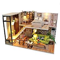 Mô hình nhà DIY Doll House The Romantic Kèm Đèn LED và Mica chống bụi thumbnail