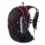 Balo Thể thao Chạy bộ,leo núi, đạp xe Naturehike NH18Y002-B (Có ngăn đựng nước và ngăn đựng mũ bảo hiểm) - Màu Đỏ Đen dung tích 15L thumbnail