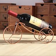 Kệ Để Chai Rượu Vang Hình Xe Kéo 3 Bánh Cổ Điển thumbnail