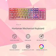 Bàn phím Razer Huntsman 104 phím Bàn phím chơi game có đèn nền RGB có dây chuyển quang tuyến tính Razer màu hồng thumbnail