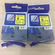Combo 2 cuộn nhãn in TZ2-611 tiêu chuẩn - Chữ đen trên nền vàng 6mm - Hàng nhập khẩu thumbnail